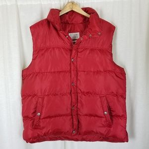 JCrew Goose Down Quilted Puffer Snap Vest Mens L